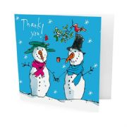 Pack of 10 Quentin Blake Snowman Thank You Cards